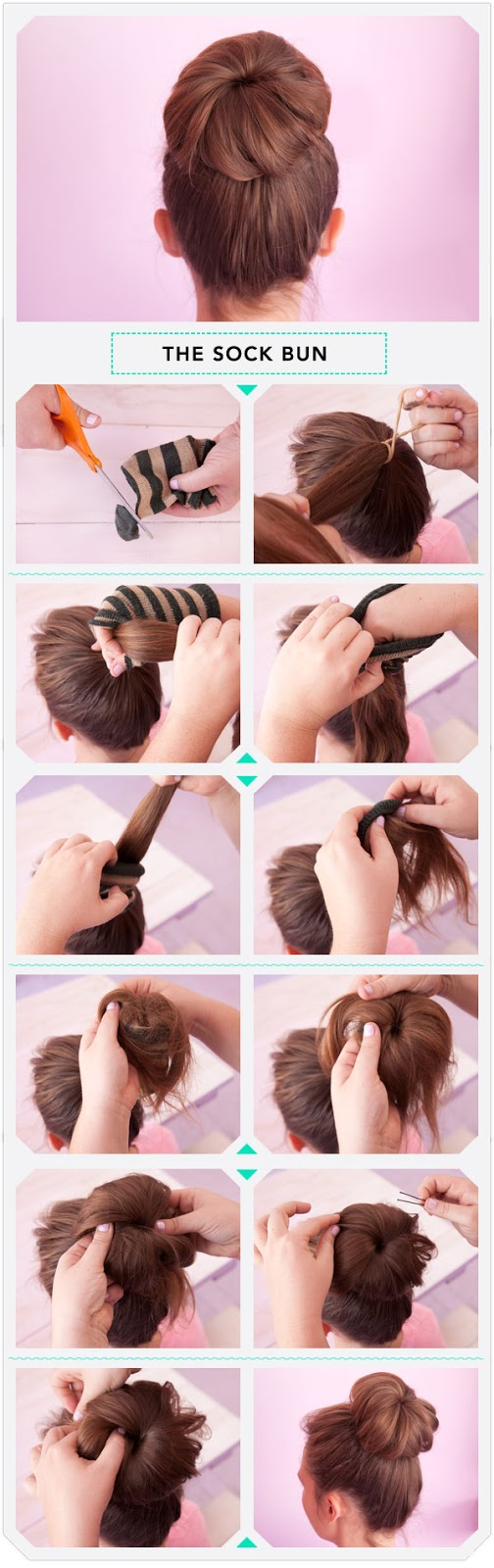 How to create sock bun